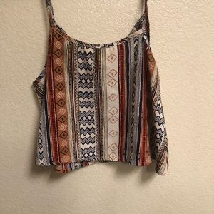 B Jewel Crop Top with Aztec Design.